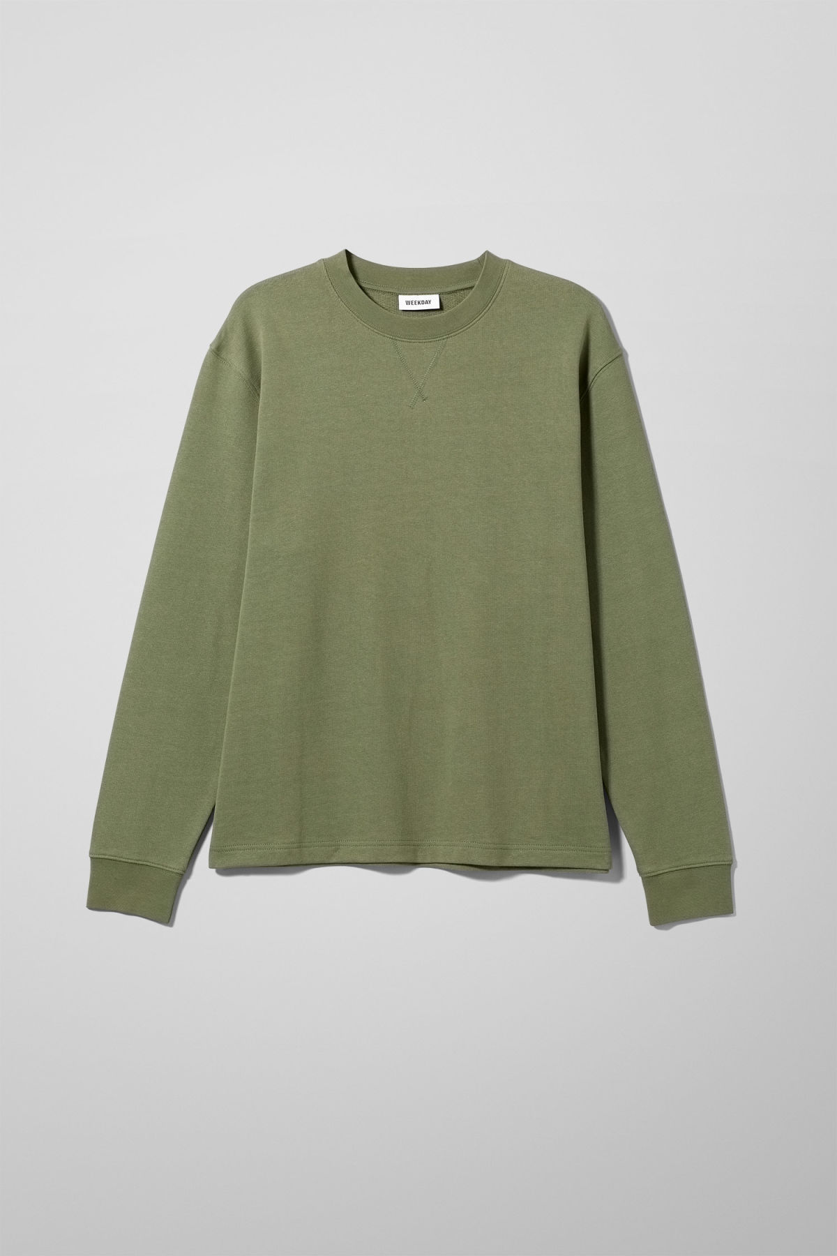 Front image of Weekday jeffrey sweatshirt in green