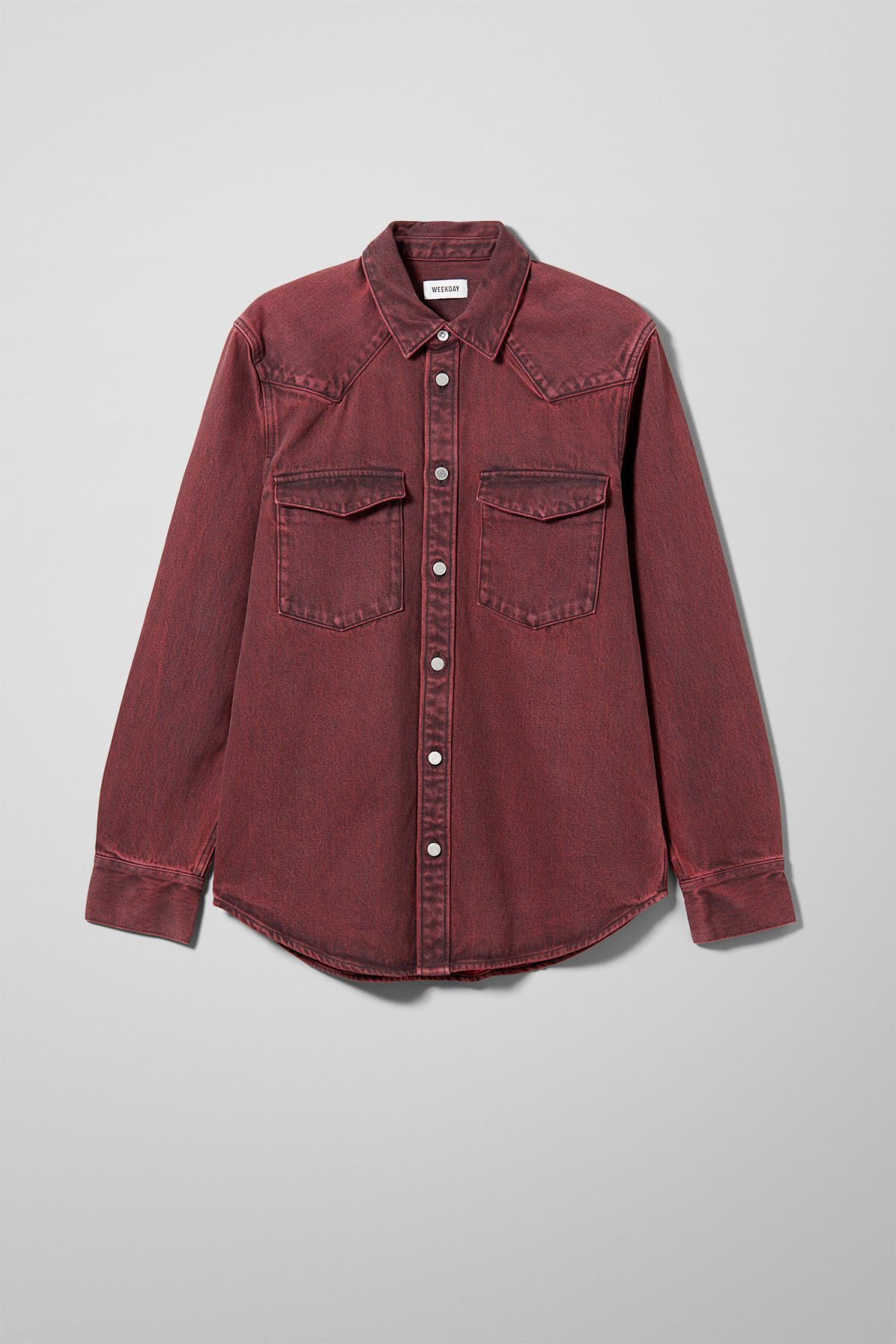 4dfcc71fafb8 Jolly Rosewood Shirt - Red - Shirts - Weekday
