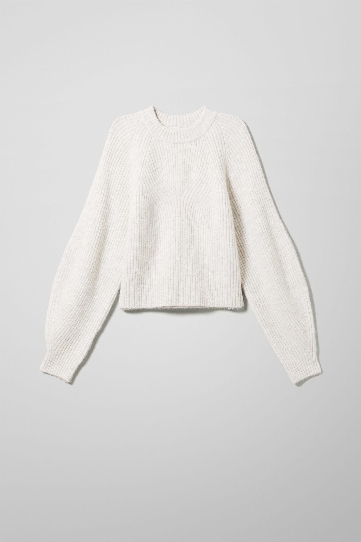 Front image of Weekday isla sweater in beige