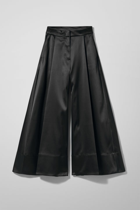 Weekday Madison Wide Satin Trousers