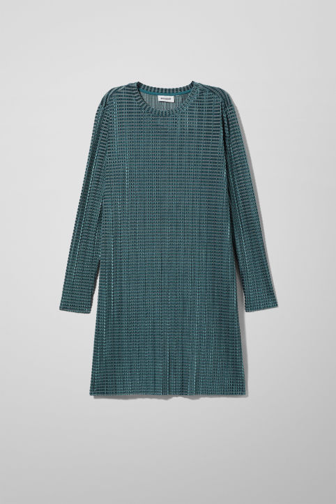 Weekday Rory Pleated Velvet Dress