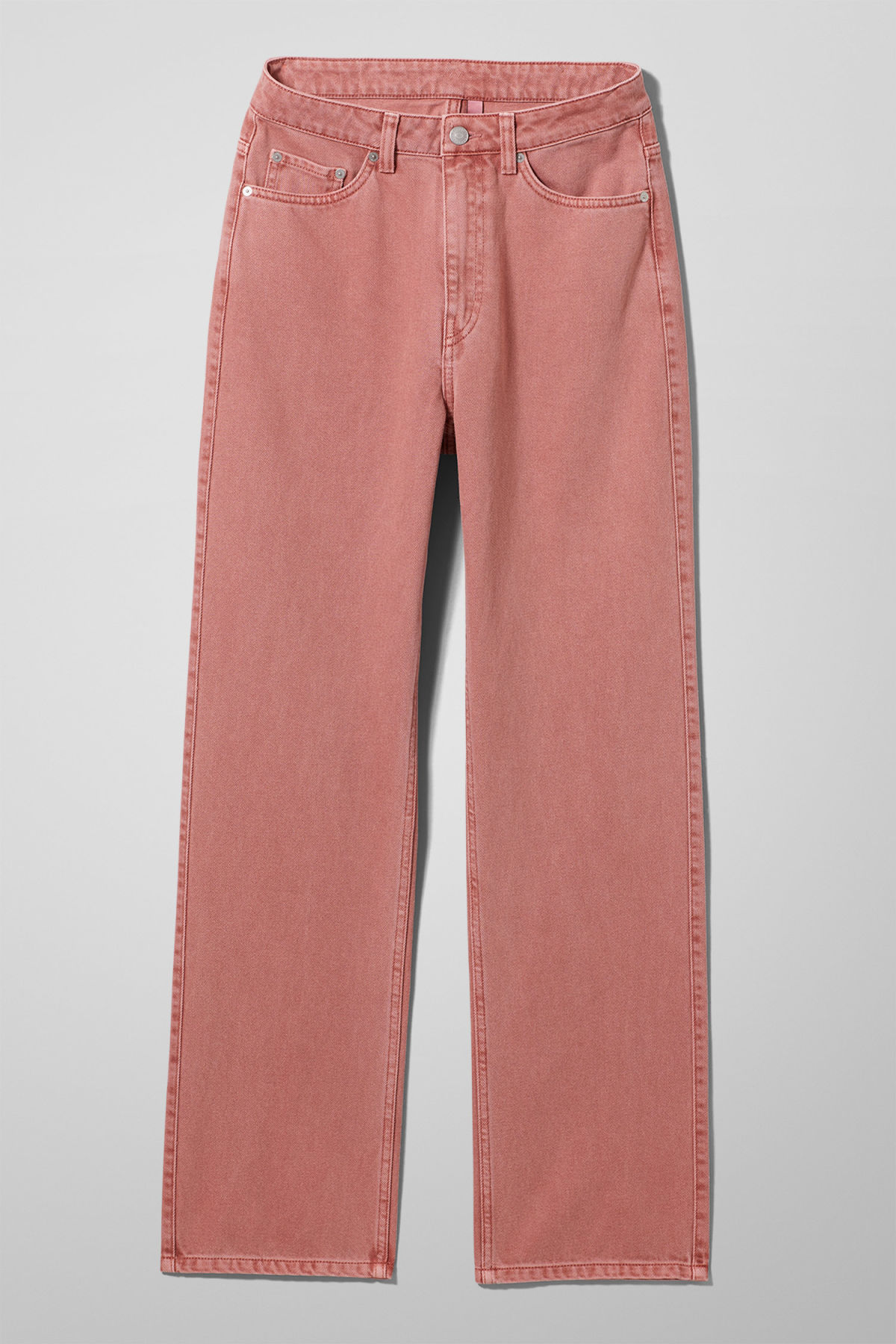 Front image of Weekday row rose jeans in orange
