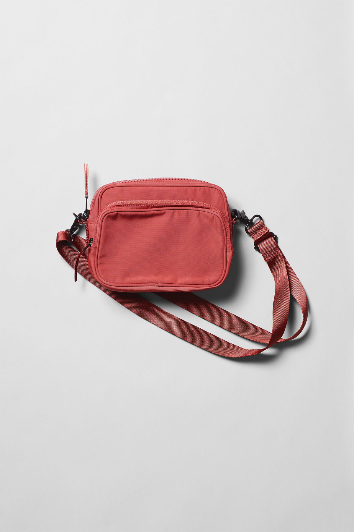 Front image of Weekday skye crossbody bag in orange