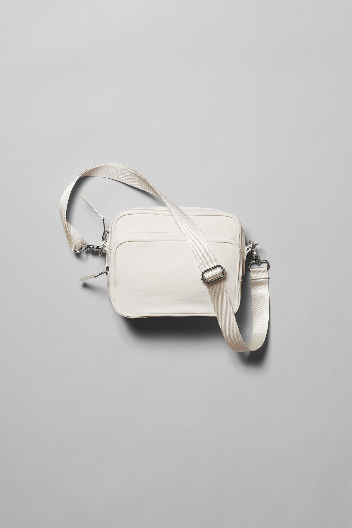 Front image of Weekday skye crossbody bag in beige