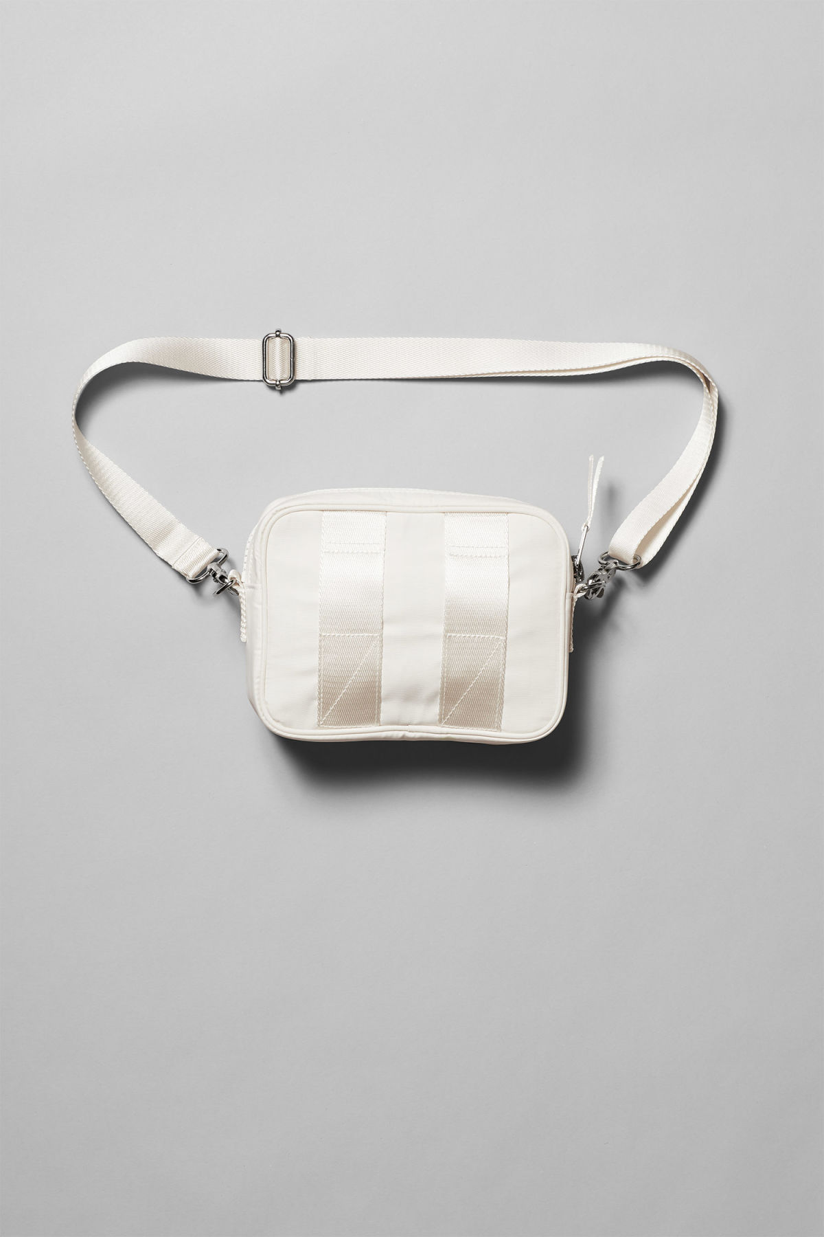 Back image of Weekday skye crossbody bag in beige