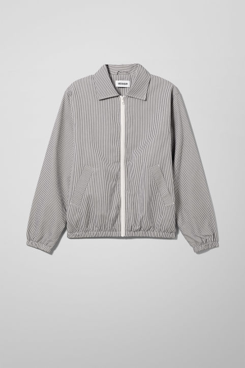 Weekday Bruno Stripe Harrington Jacket