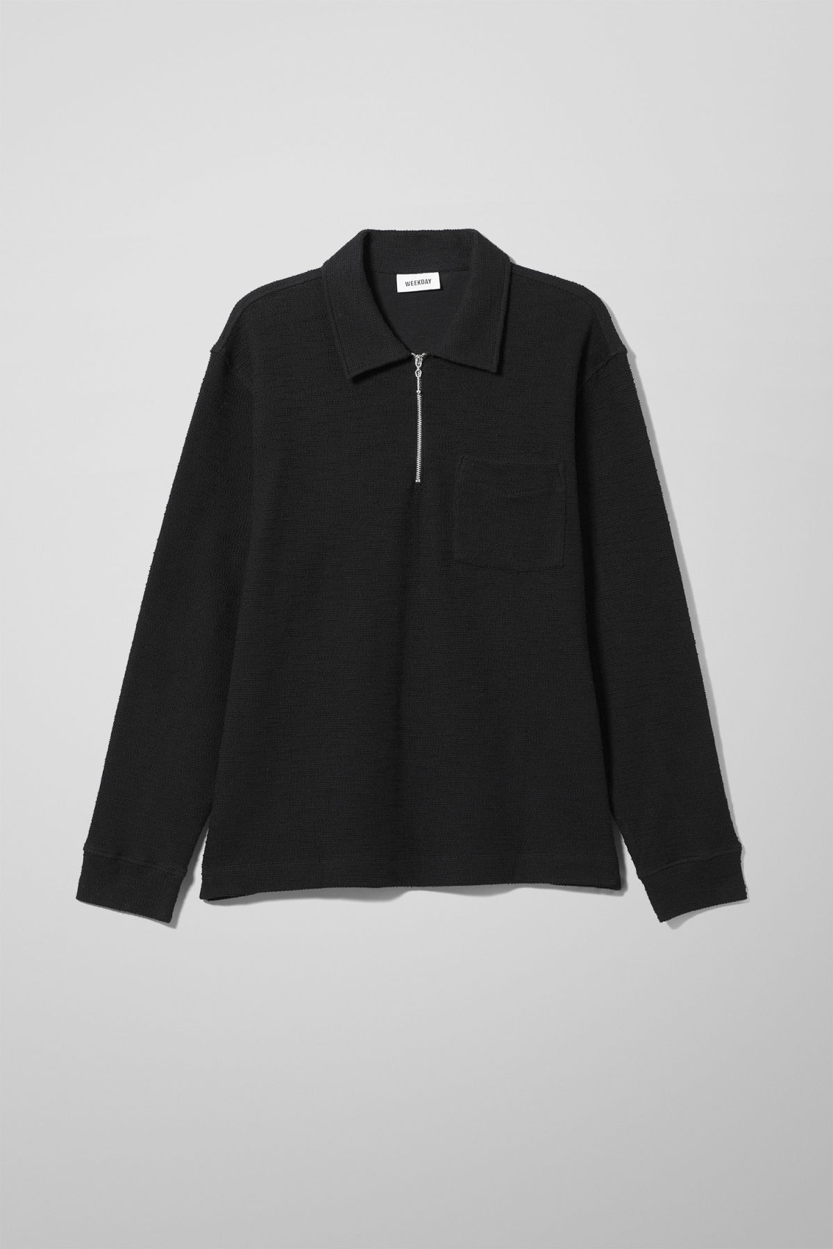 Front image of Weekday nilo shawl collar in black