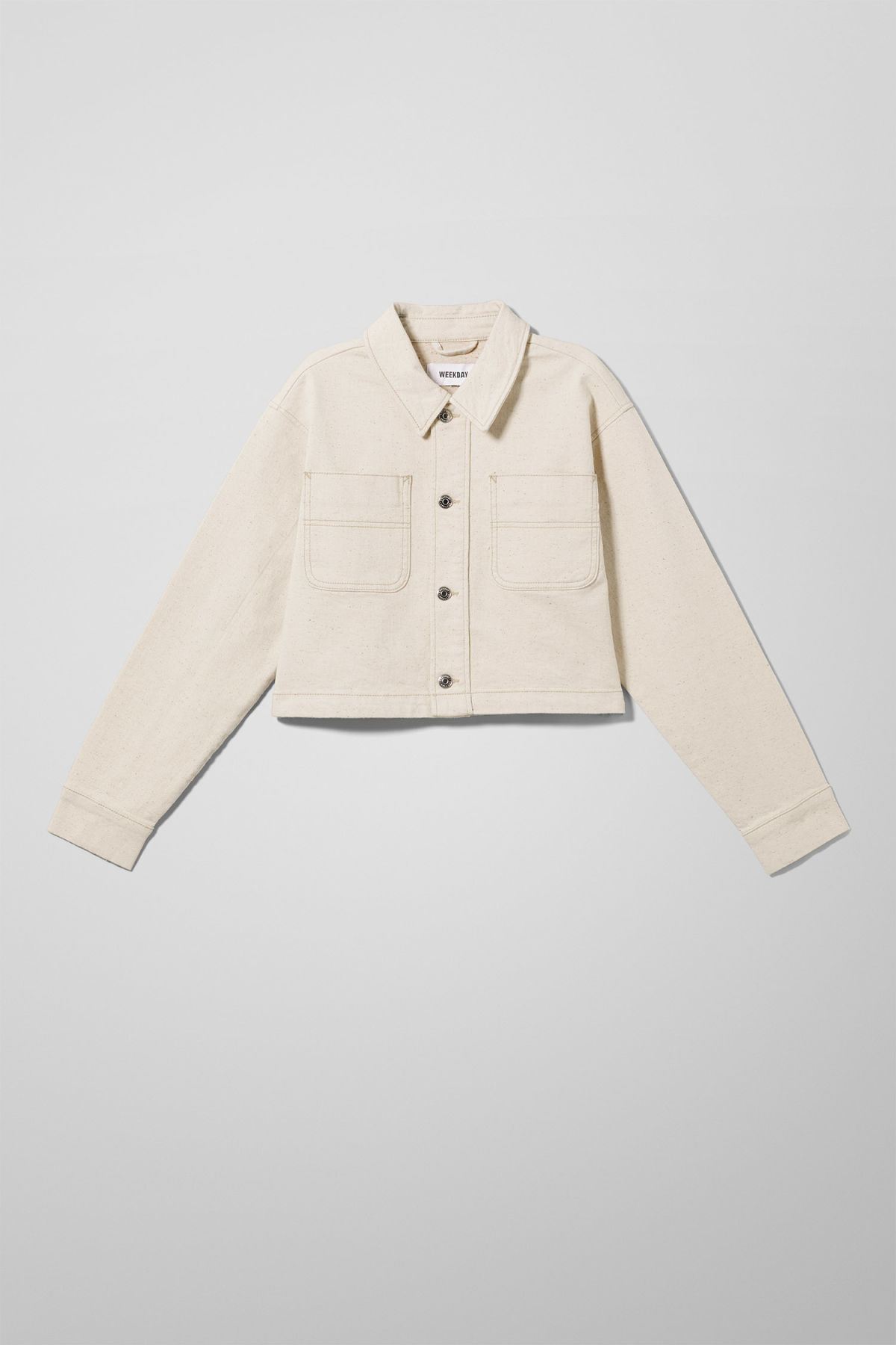 Front image of Weekday marybeth jacket in beige