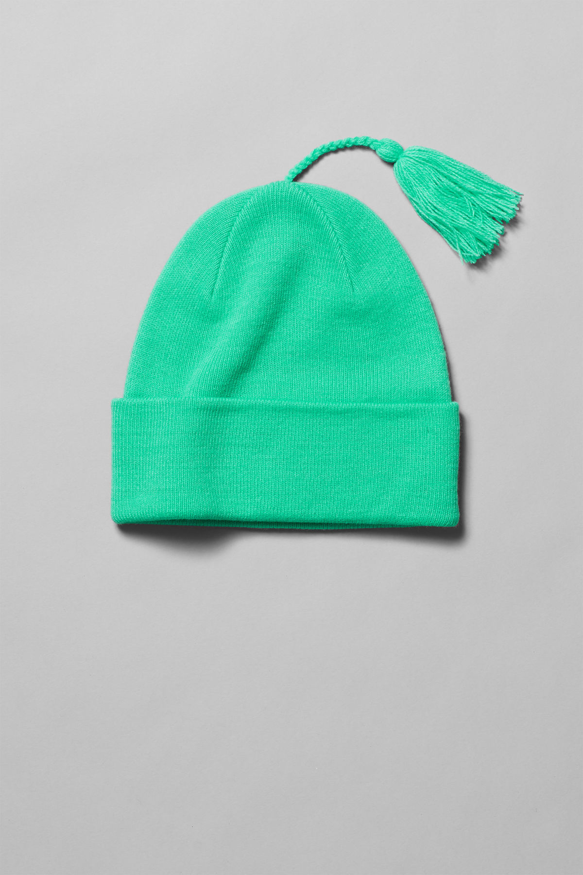 Front image of Weekday leo beanie in green