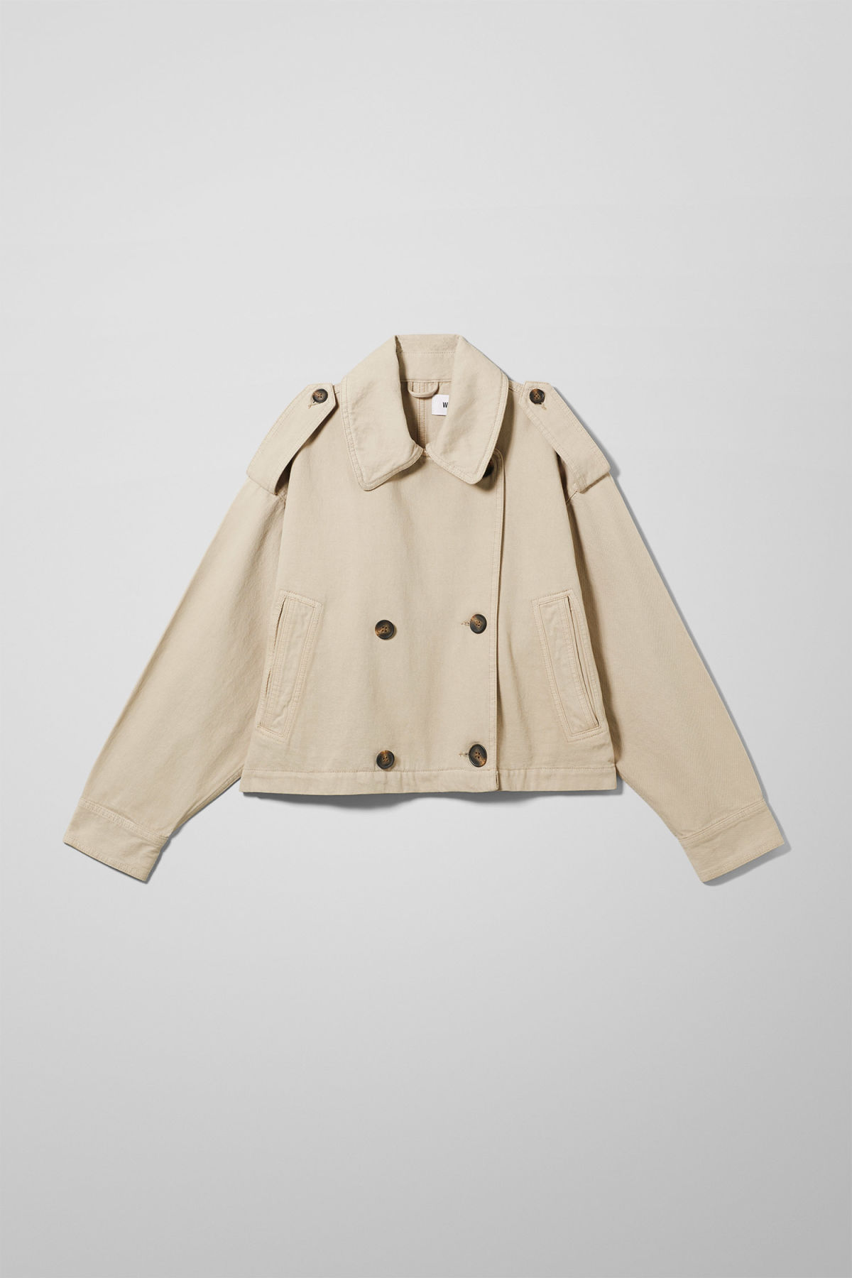 Front image of Weekday cybil jacket in beige