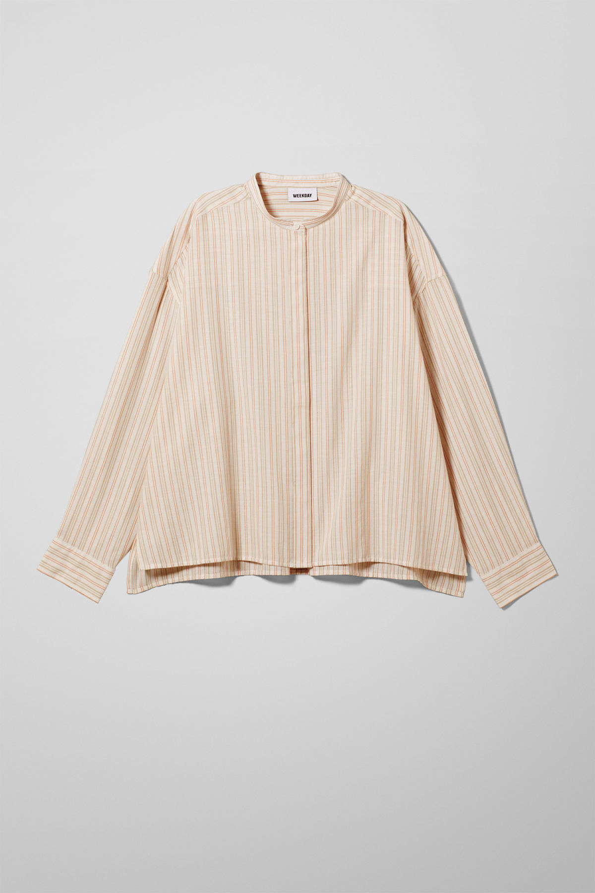 Front image of Weekday lora shirt in beige
