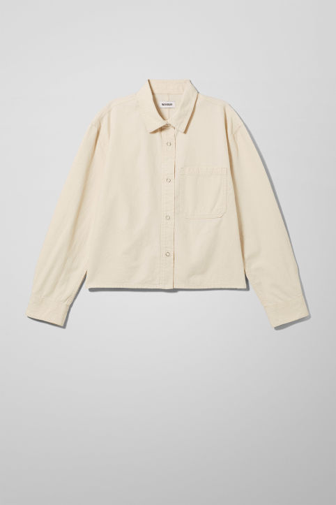 Weekday Tap Ecru Denim Shirt