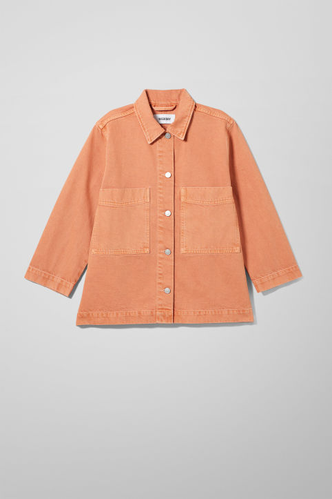 Weekday Trip Tangerine Denim Jacket