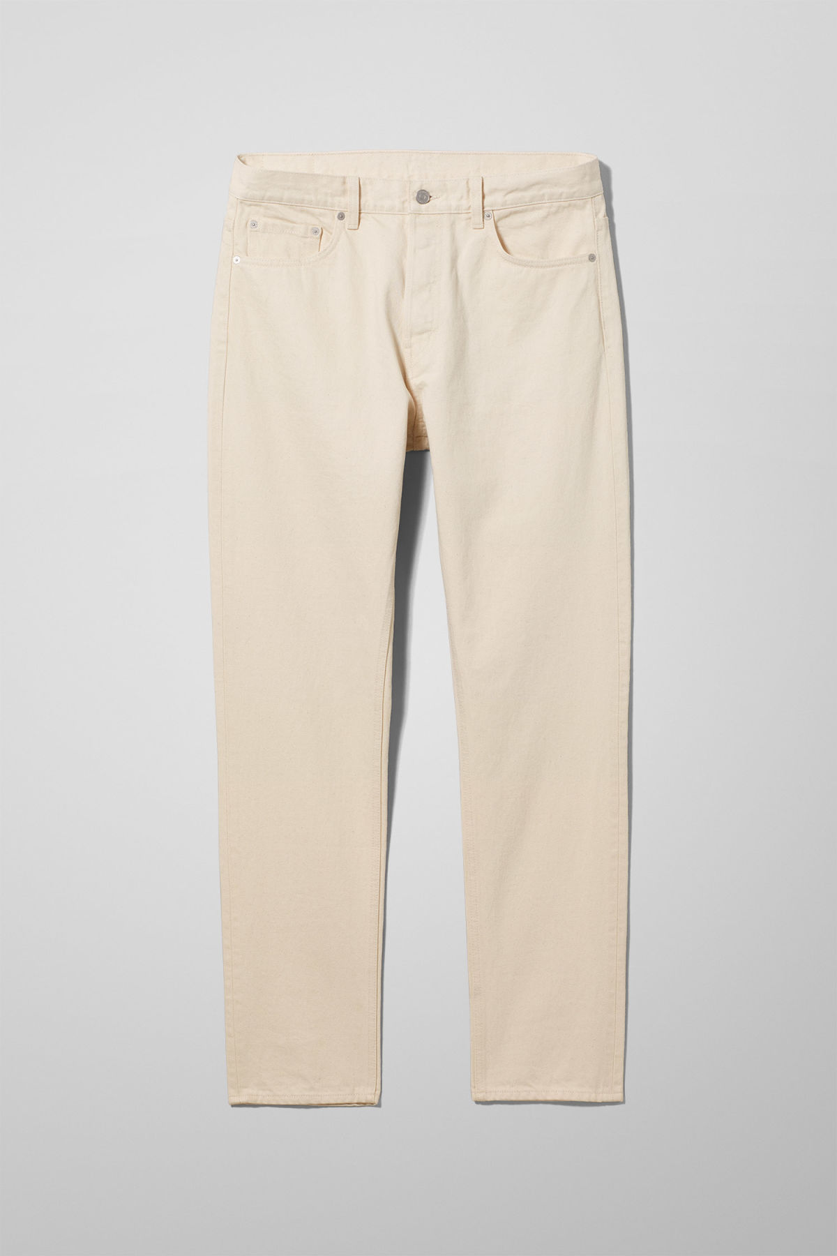 Front image of Weekday pine ecru jeans in beige