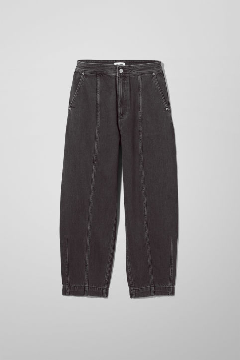 Weekday Route Charcoal Black Jeans