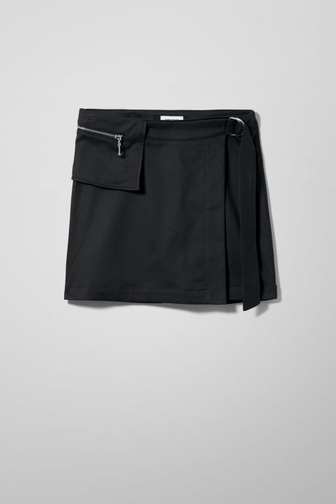 Weekday Ebony Mini Skirt