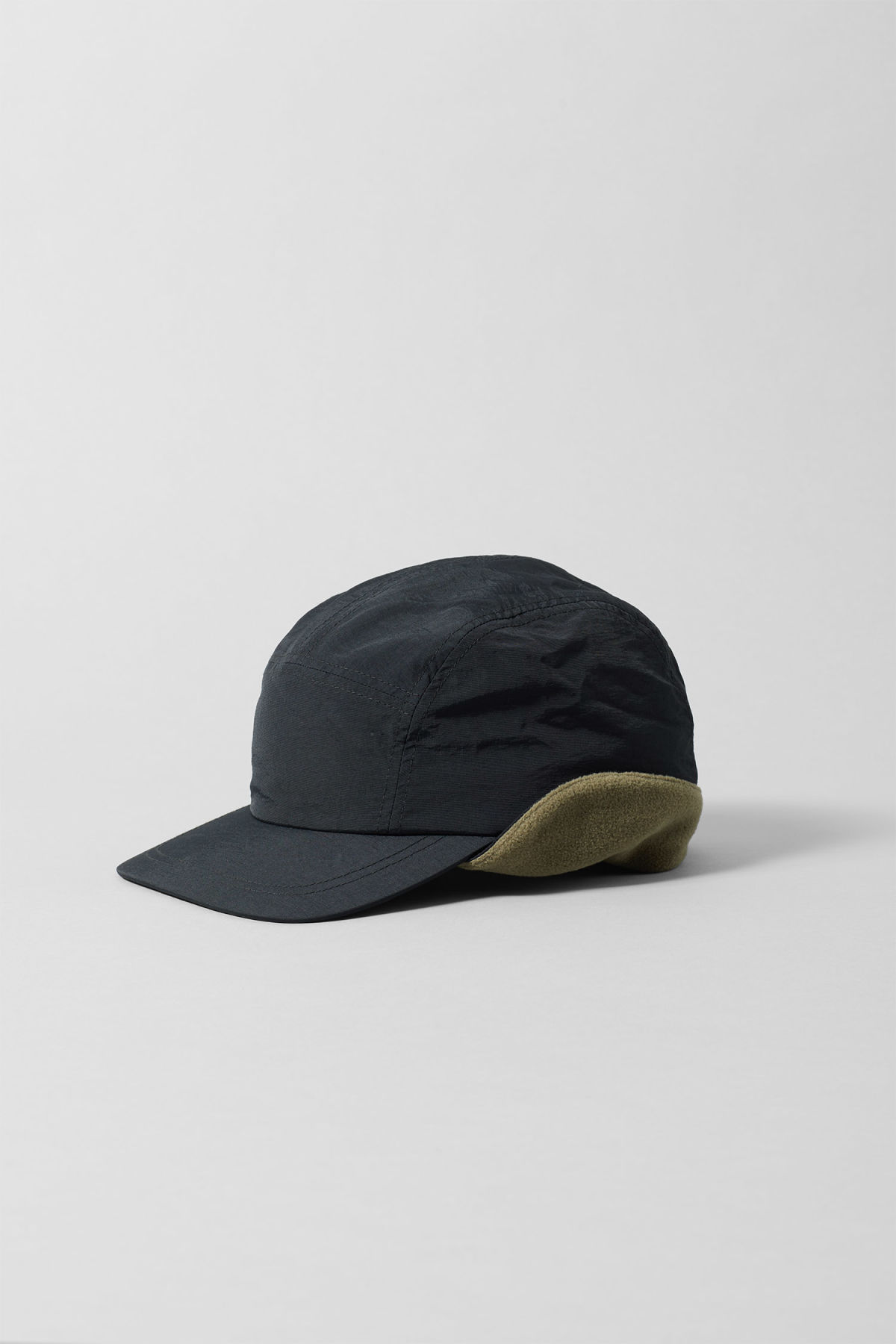 Front image of Weekday pack cap in black