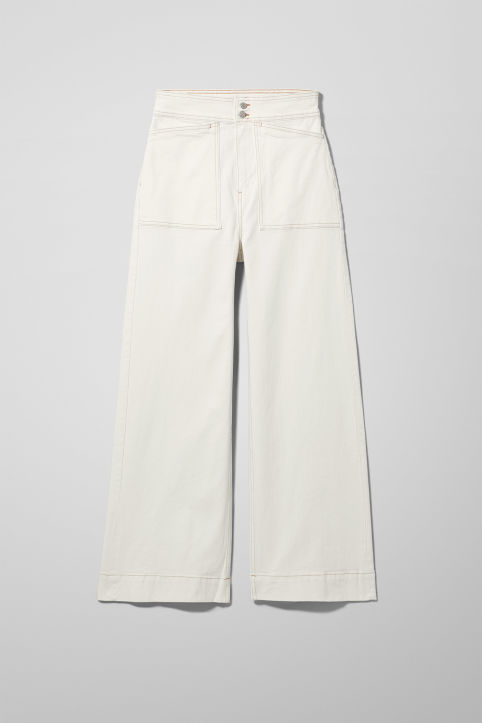 Weekday Worker White Jeans