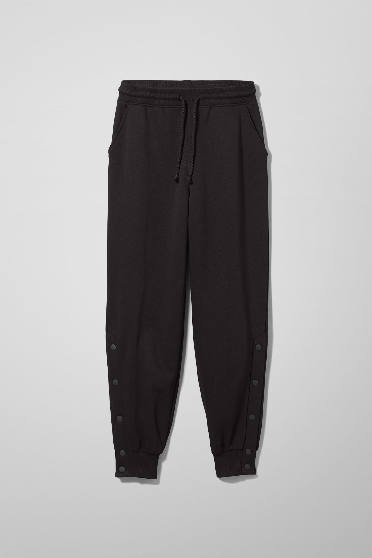 Front image of Weekday alena sweatpants in black