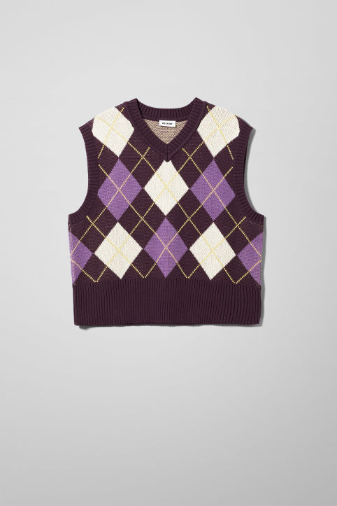 Weekday Ayo Checked Vest