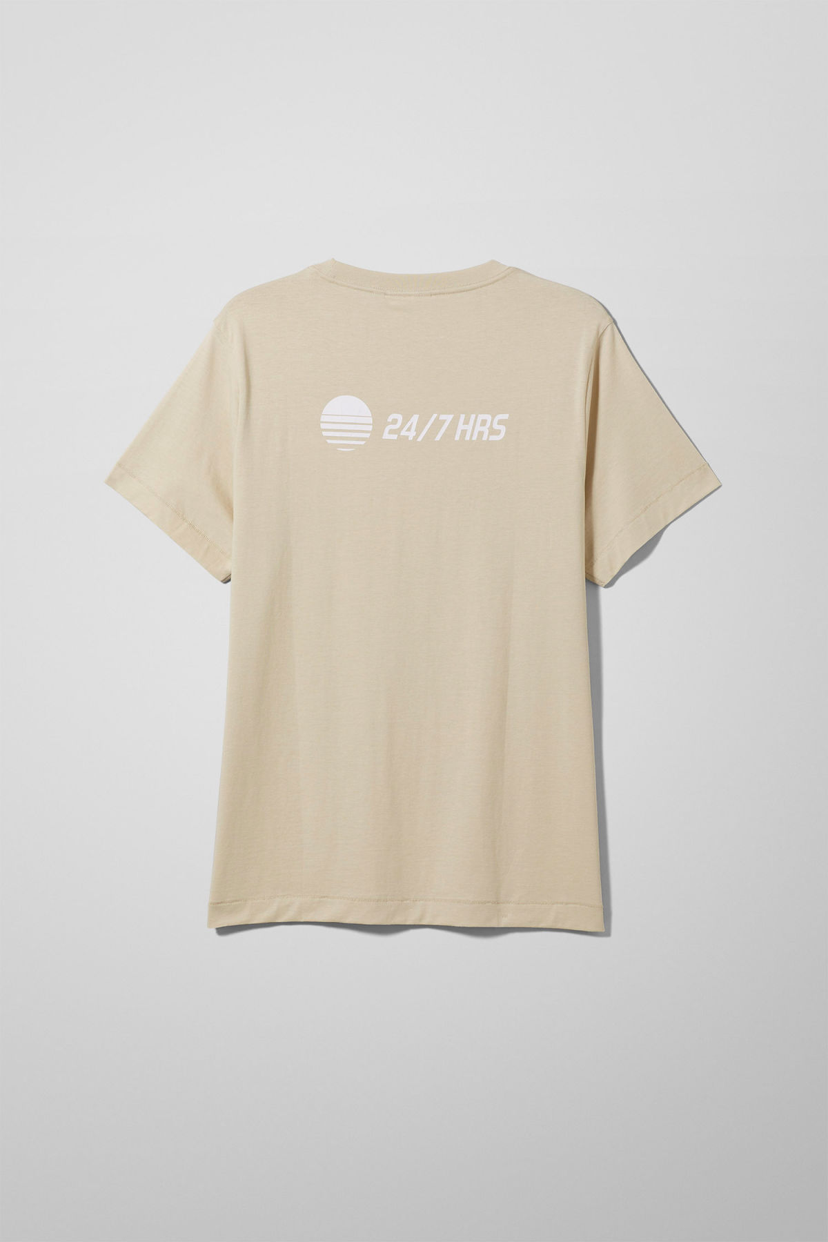 Back image of Weekday pictor solar t-shirt in beige