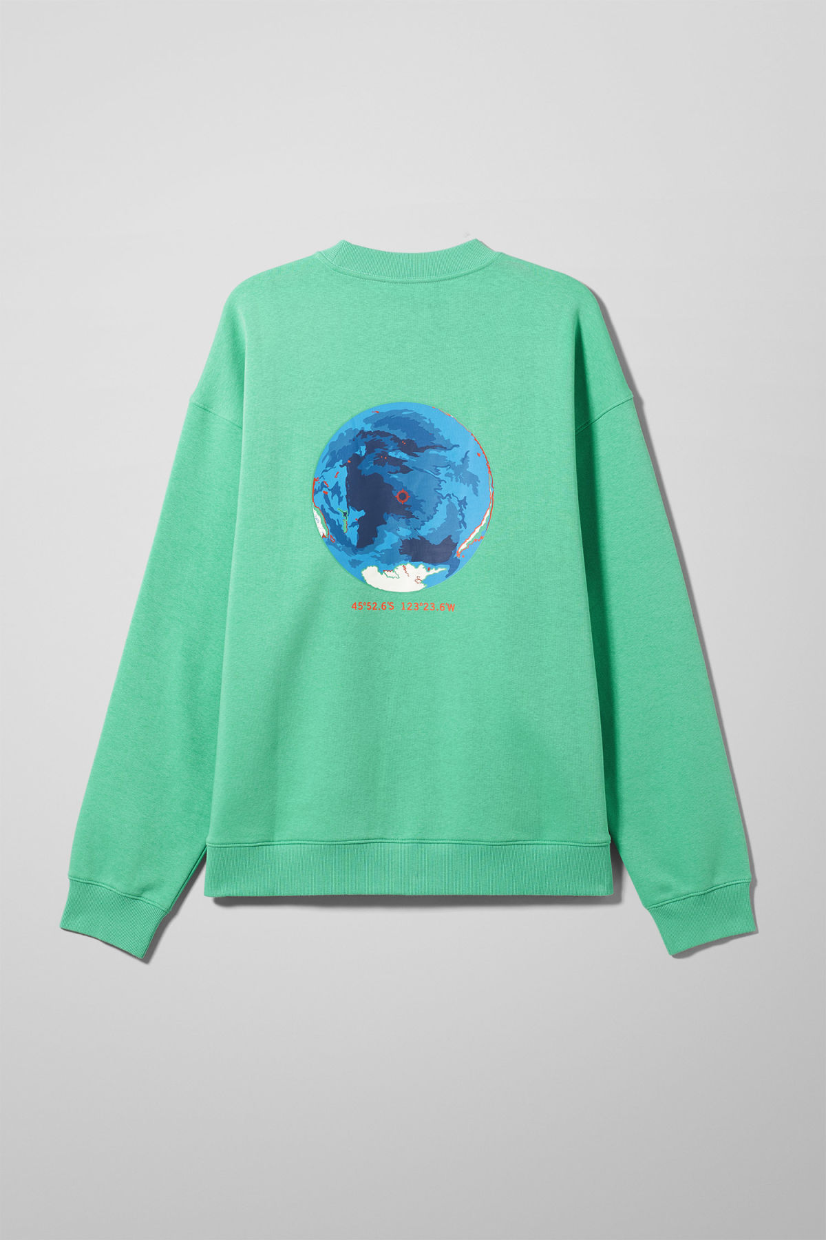 Front image of Weekday big steve nemo sweatshirt in green