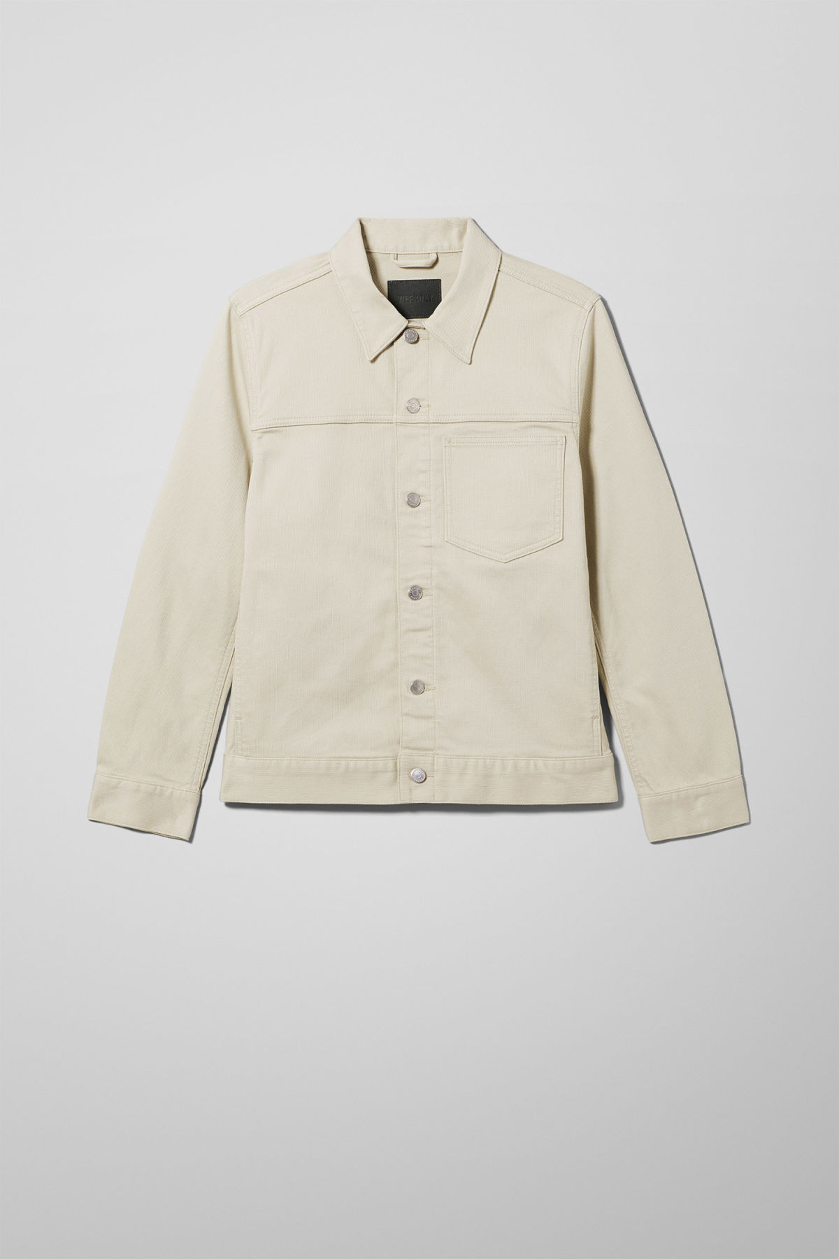 Front image of Weekday core bedford jacket in beige
