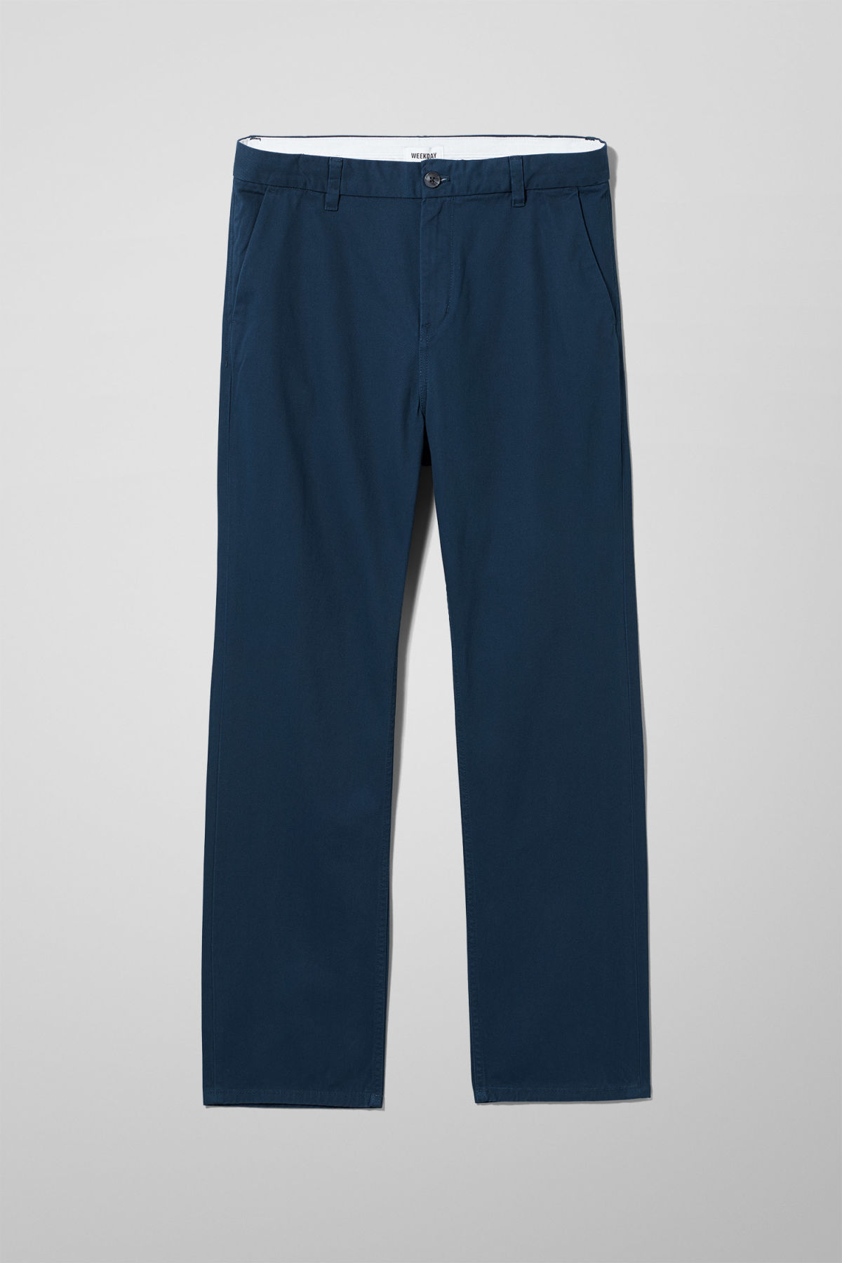 Front image of Weekday harold chinos in blue