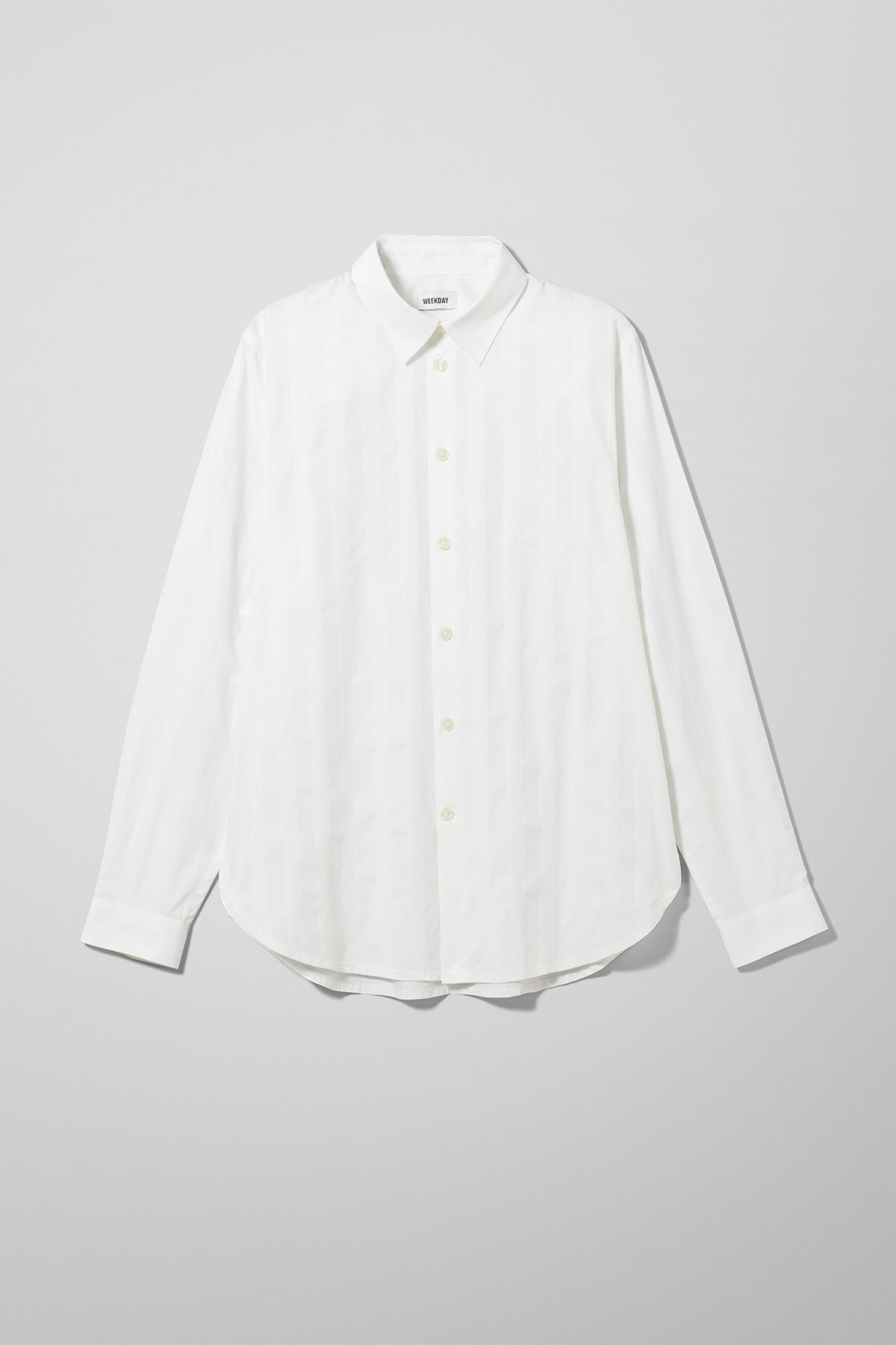 Front image of Weekday miguel shirt in white