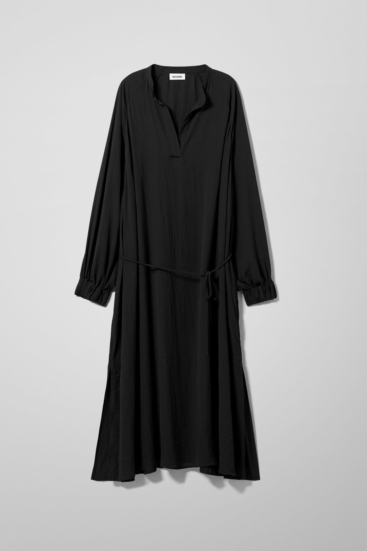 Front image of Weekday giselle dress in black