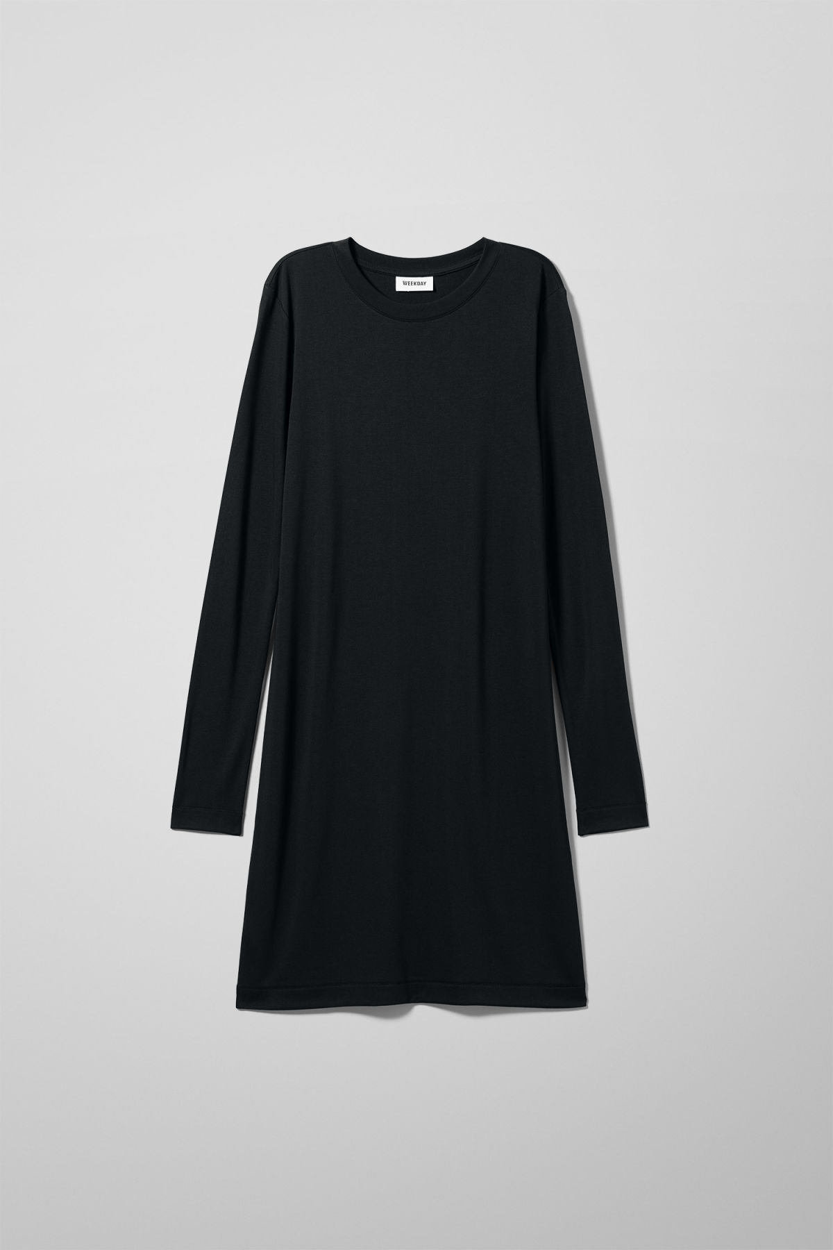 Front image of Weekday beyond long sleeve dress  in black