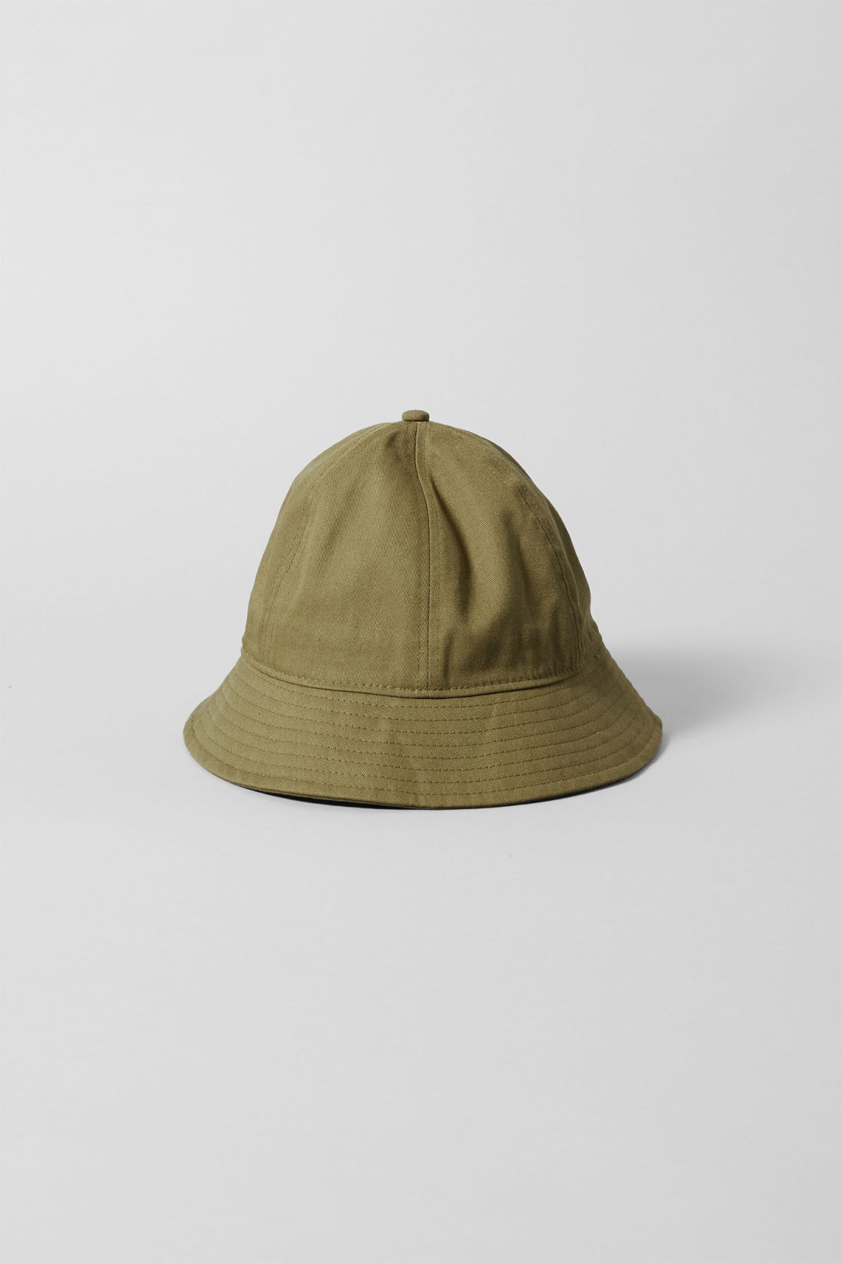 Front image of Weekday stellar bucket hat in green