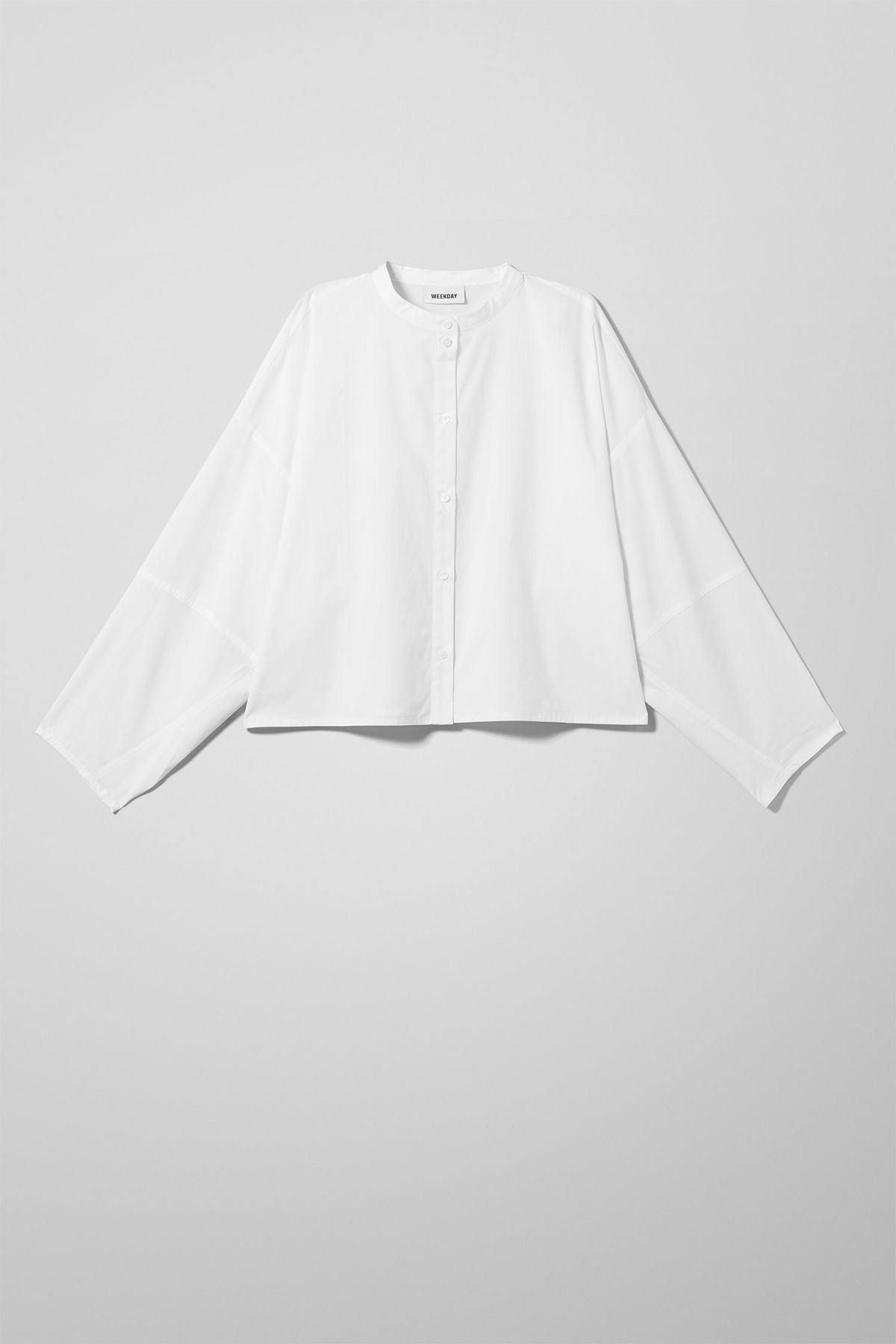 Front image of Weekday charlize shirt in white
