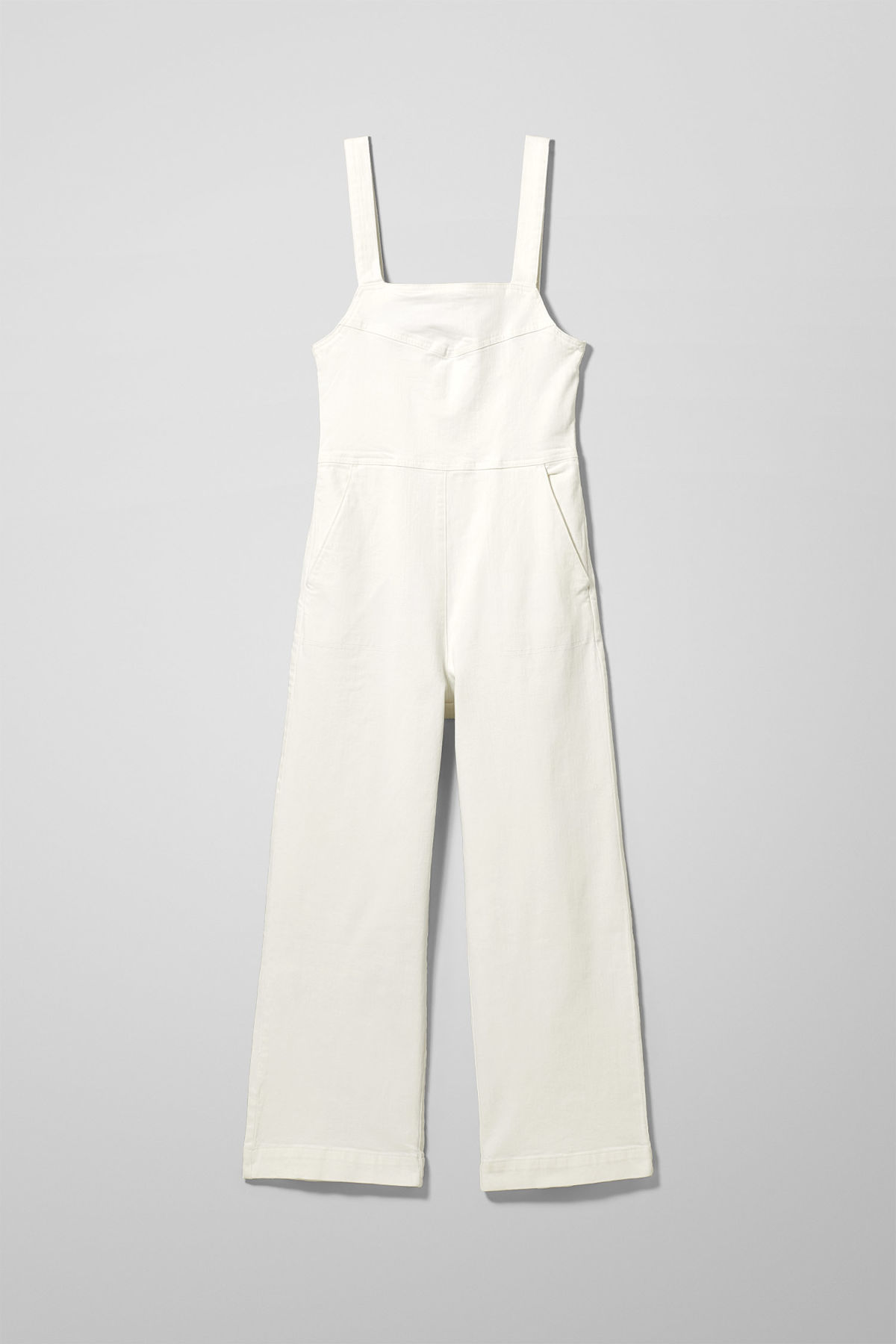 popular stores where to buy 2019 hot sale Junip White Denim Jumpsuit - White - Dresses & Jumpsuits - Weekday