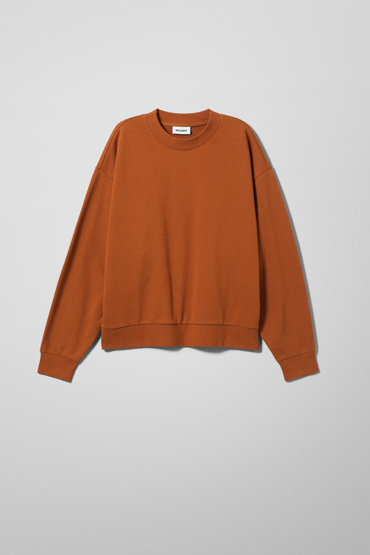 Front image of Weekday huge cropped sweatshirt  in orange