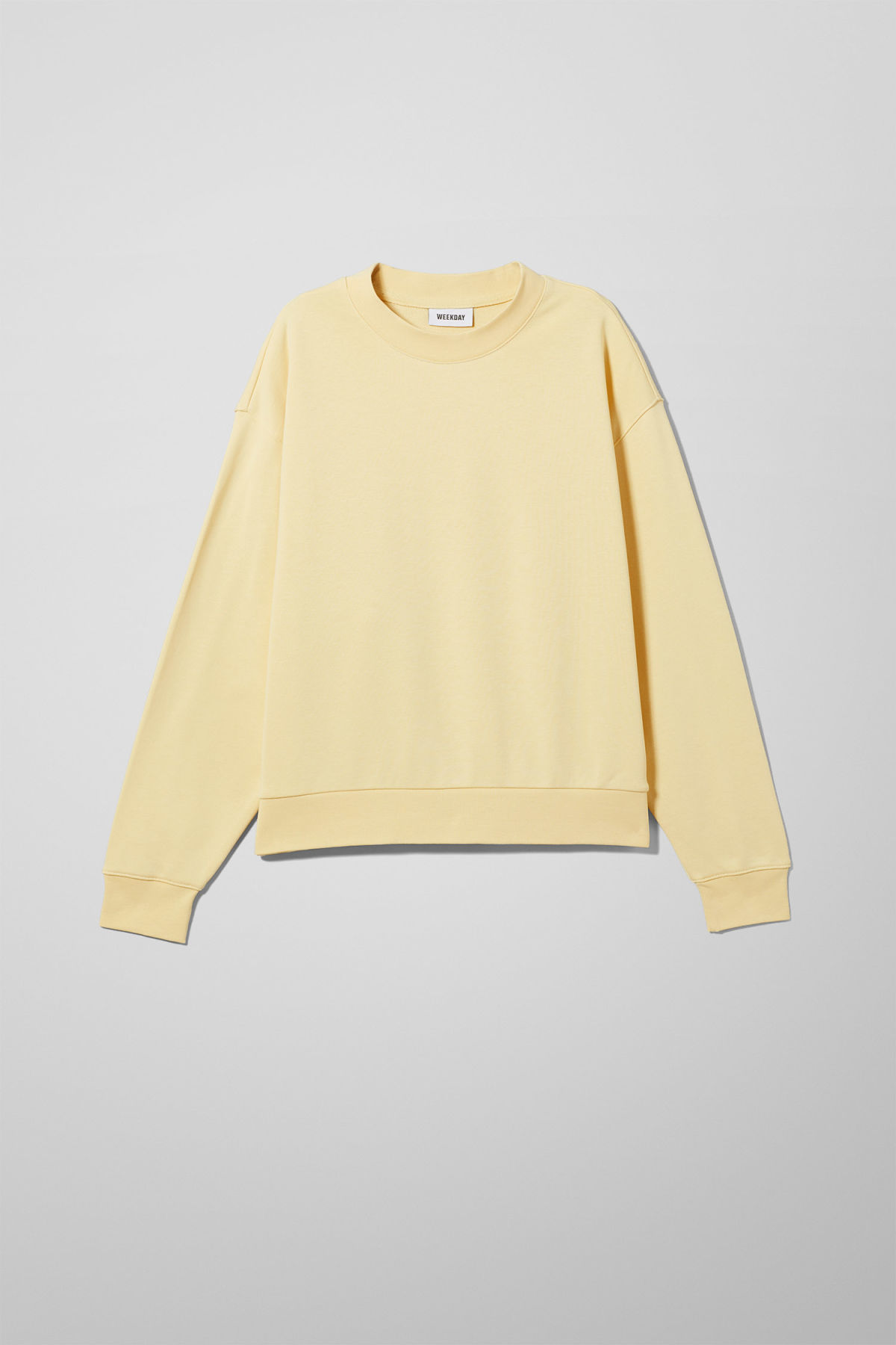 Front image of Weekday huge cropped sweatshirt  in yellow