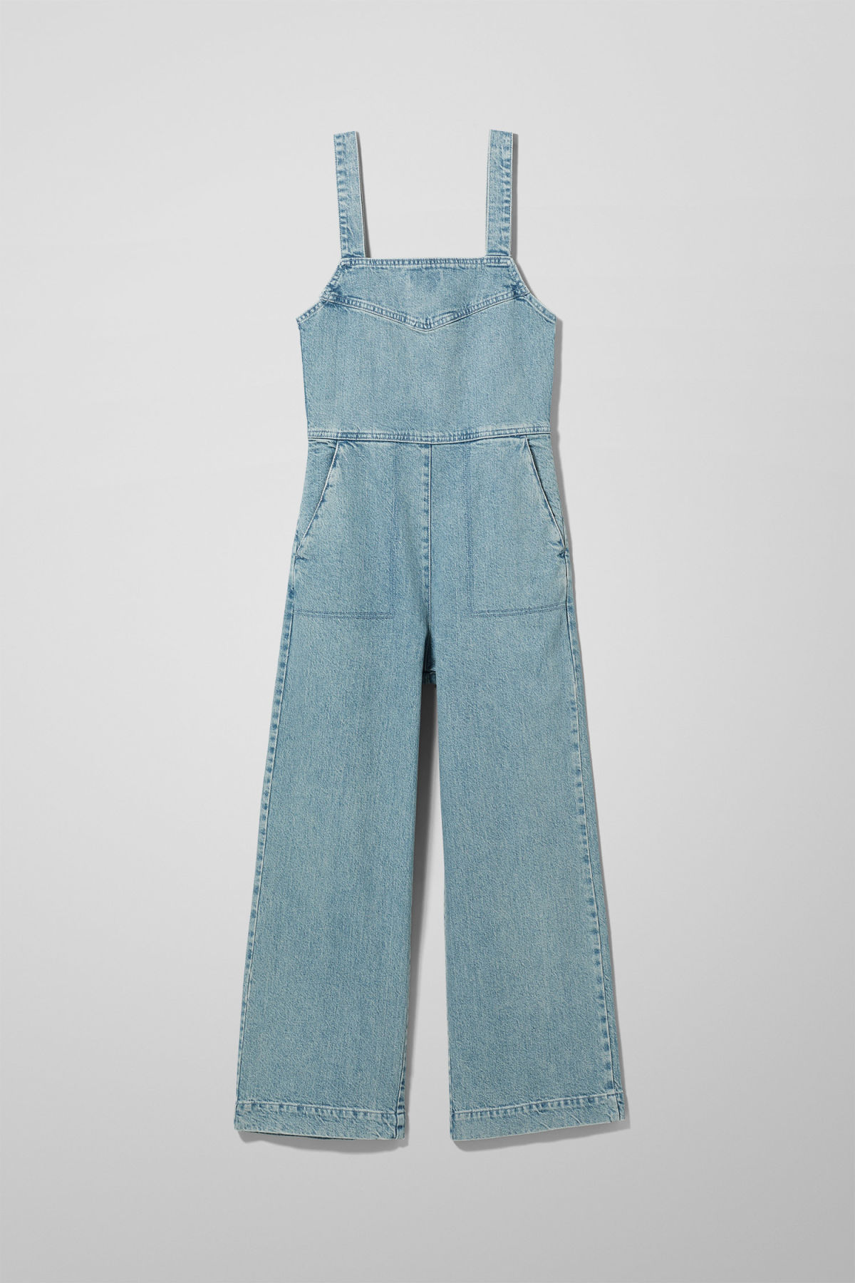 browse latest collections Clearance sale get new Junip Seven Blue Denim Jumpsuit - Blue - Dresses & Jumpsuits - Weekday