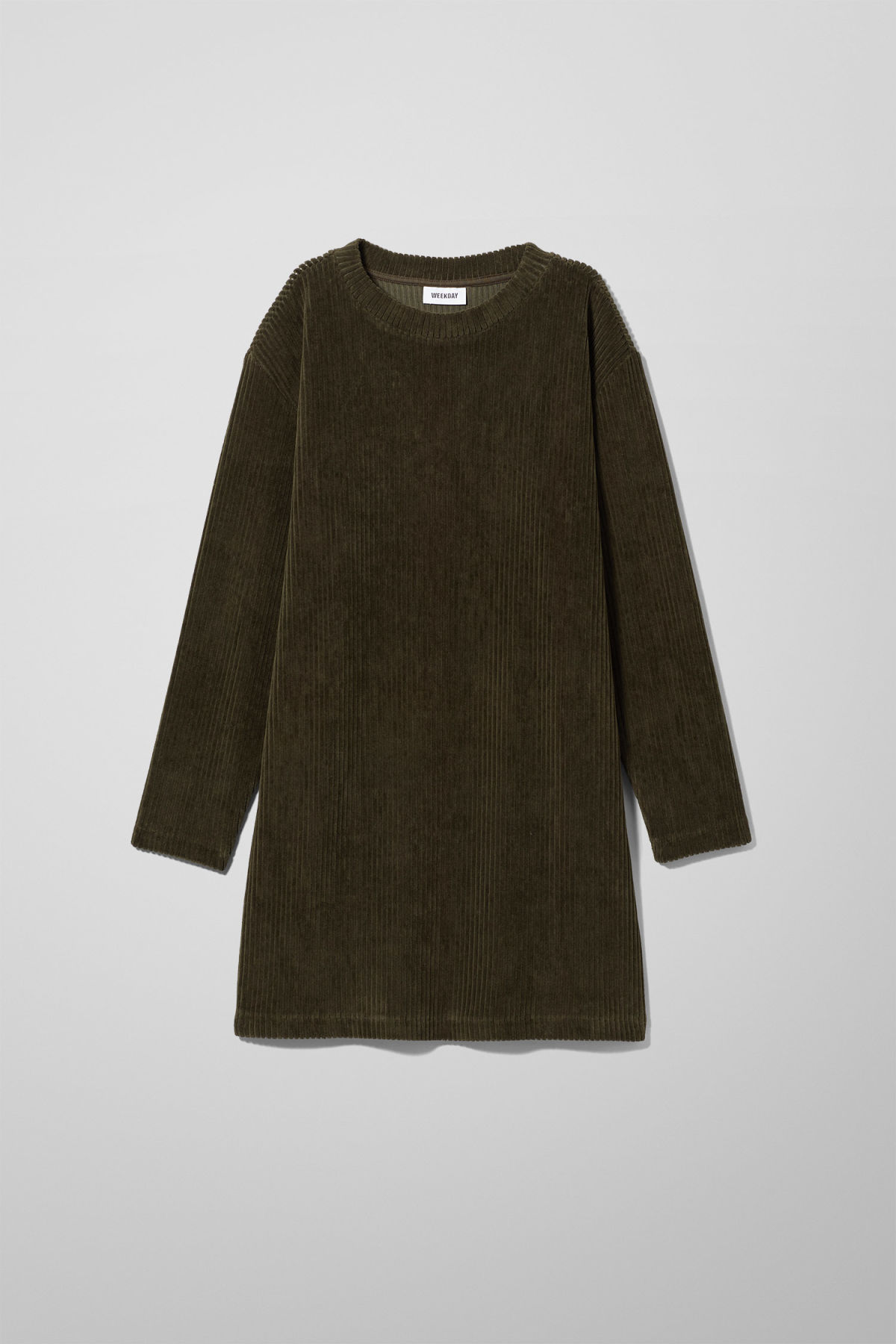 Front image of Weekday elina dress in green