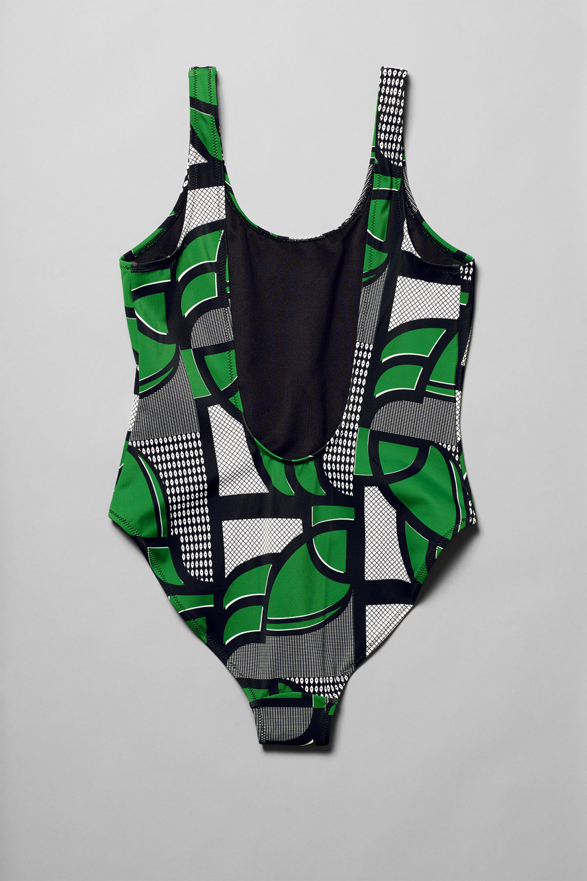 Back image of Weekday emerald big eye swimsuit in green