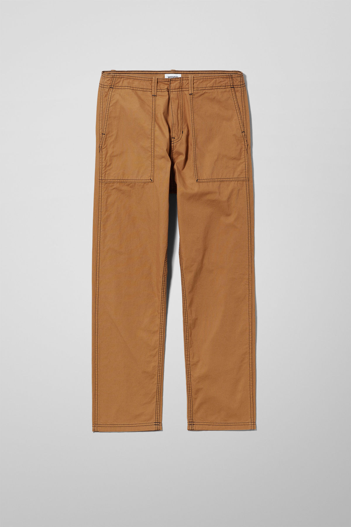 Front image of Weekday fowler chinos in yellow