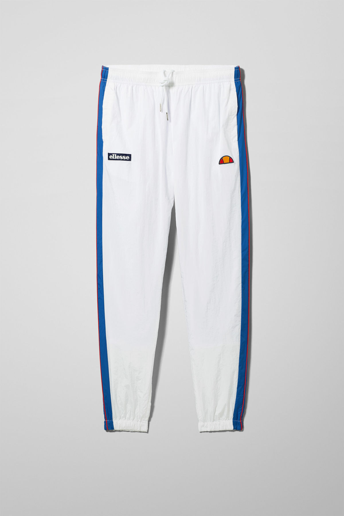 Front image of Weekday piecero pants in white
