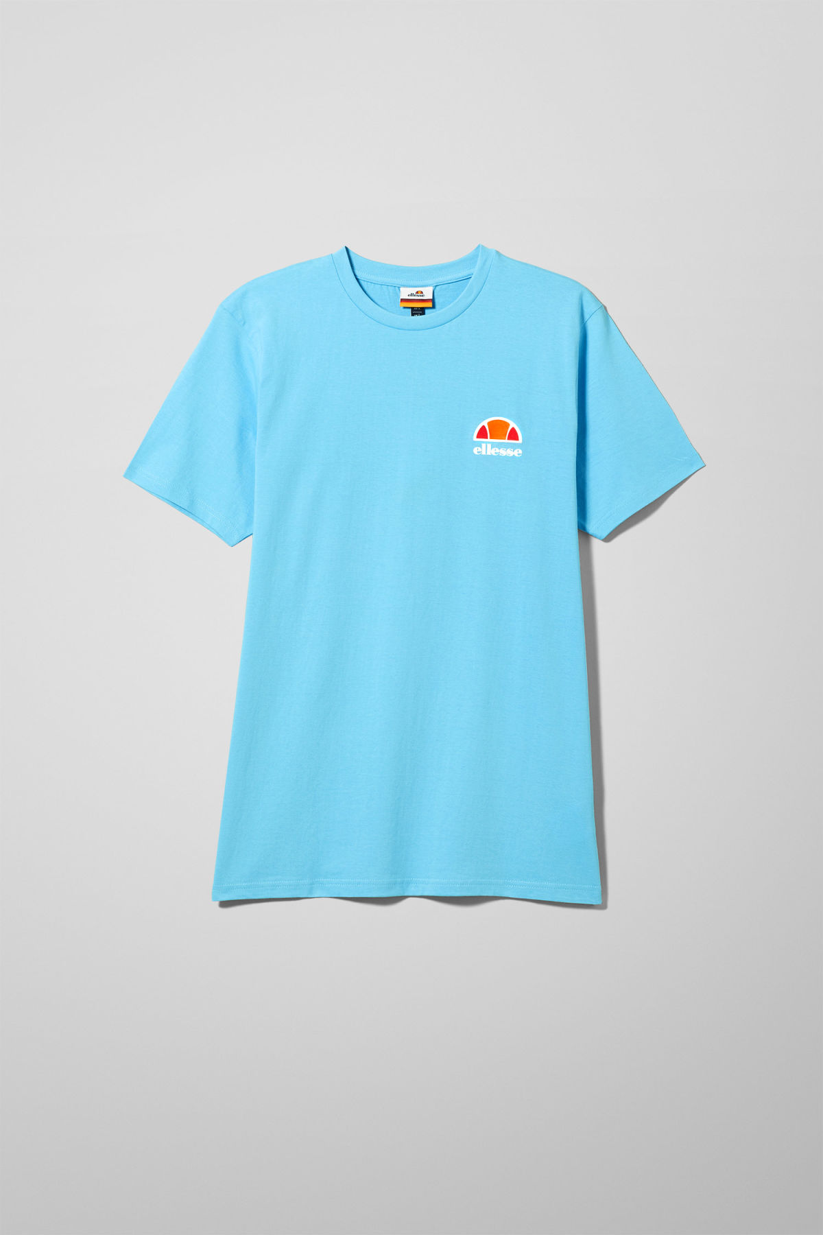 Front image of Weekday canaletto t-shirt in blue