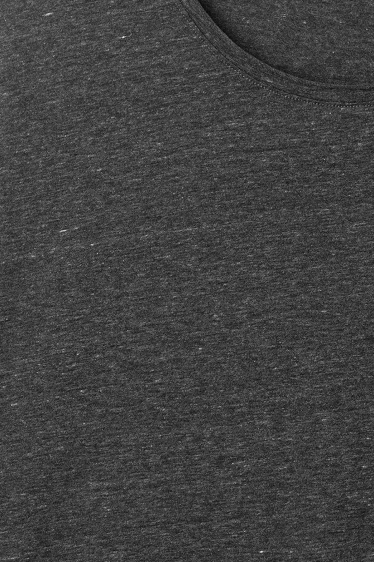 Detailed image of Weekday dark t-shirt in grey