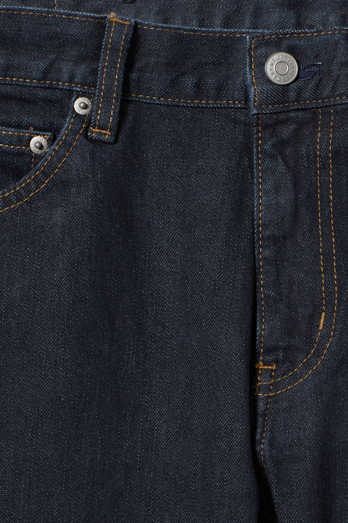 Detailed image of Weekday friday dark rinse jeans in blue