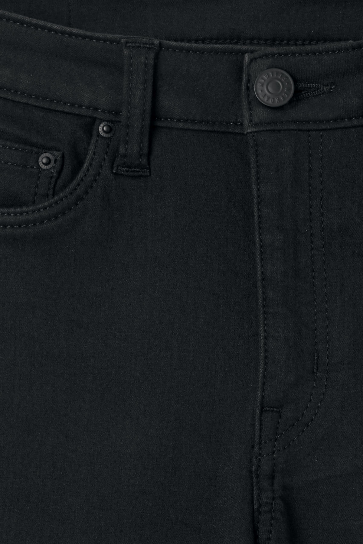 Detailed image of Weekday body elastic black jeans in black
