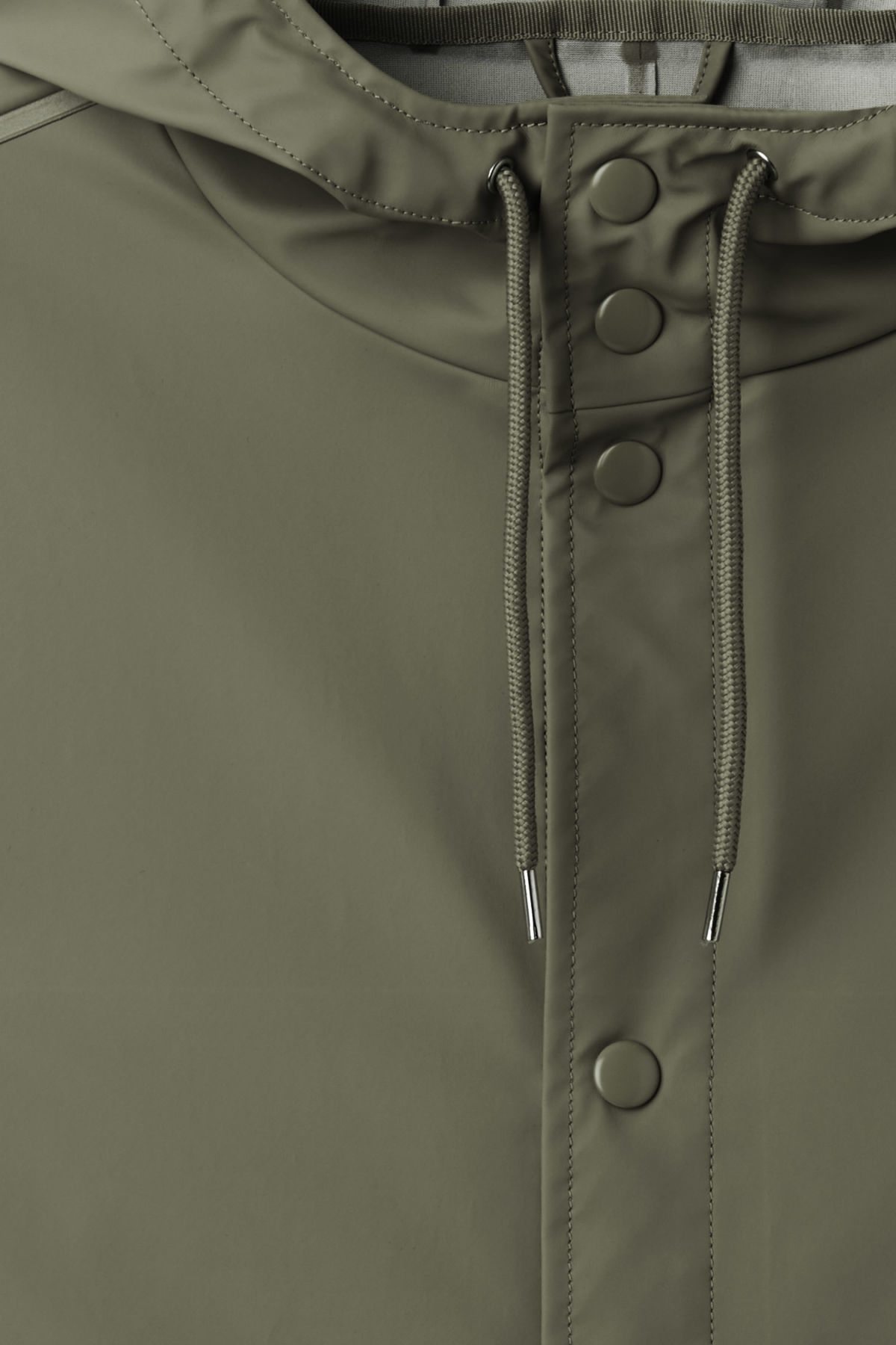 Detailed image of Weekday sune raincoat in green