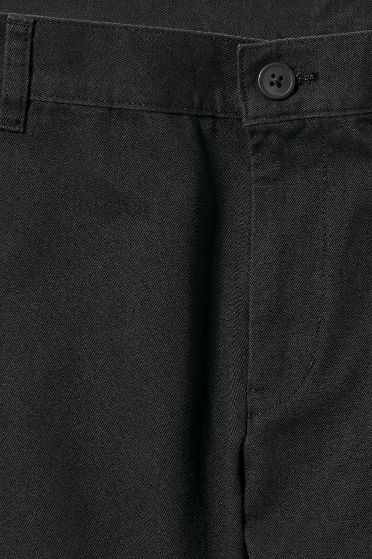 Detailed image of Weekday wood chinos in black
