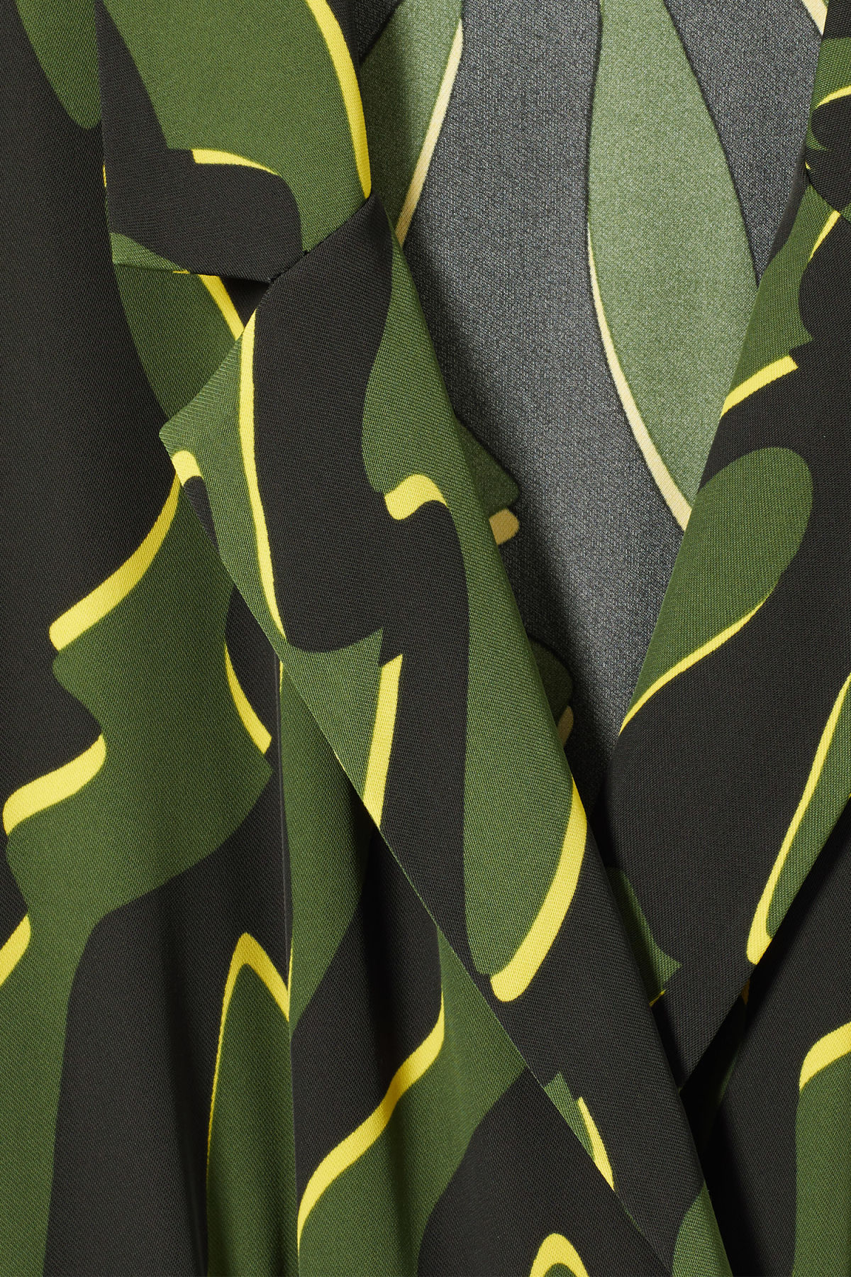 Detailed image of Weekday jimi short sleeve jumpsuit in green