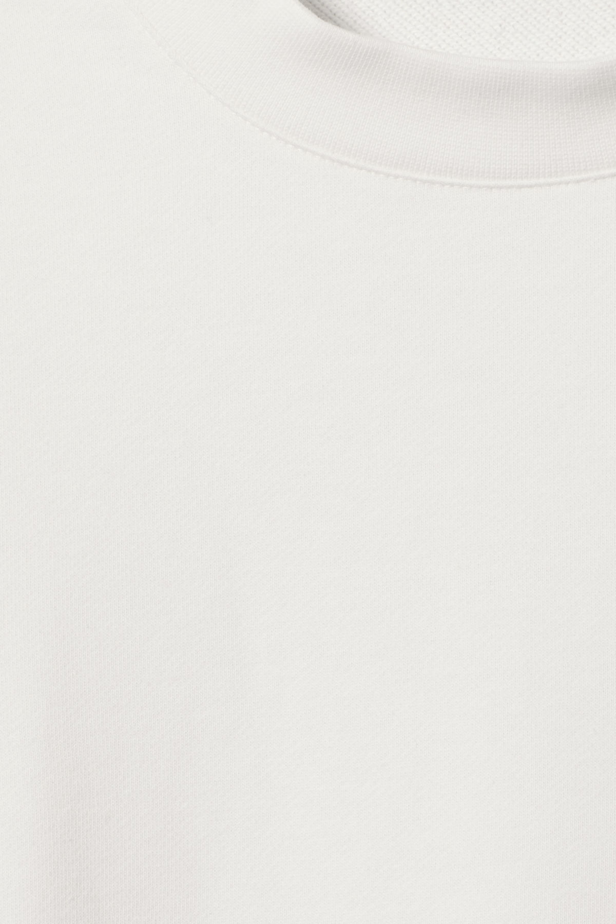 Detailed image of Weekday huge cropped sweatshirt  in white