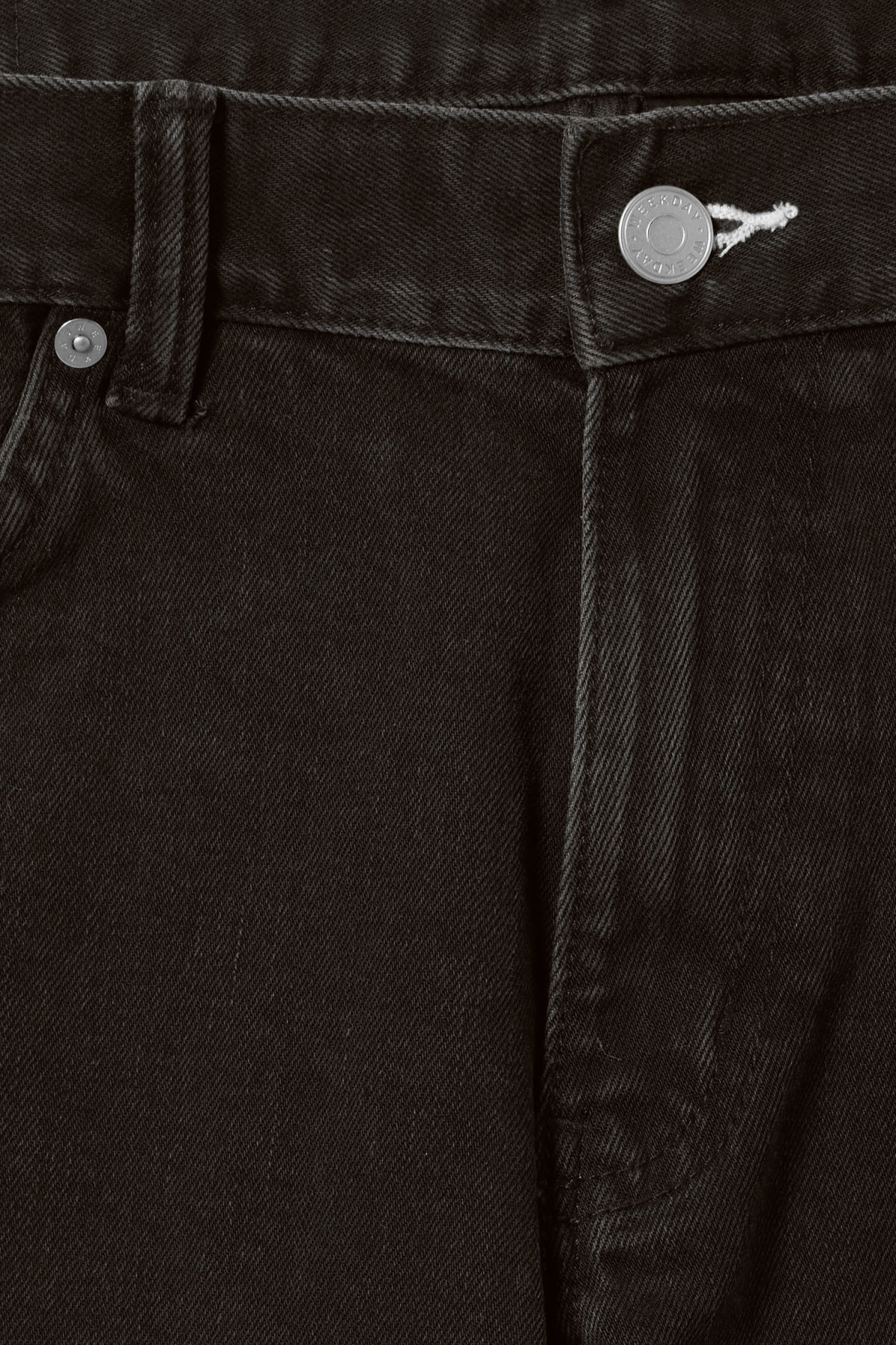 Detailed image of Weekday sunday tuned black jeans in black